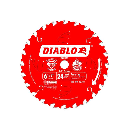 Diablo D0624A 6-1/2 in. x 24 Tooth Framing Saw Blade