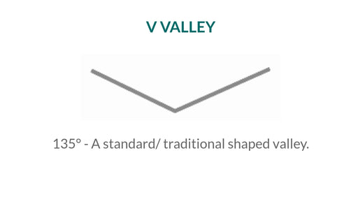Roof Metal Valley - 2 x 8 - Standard - Black