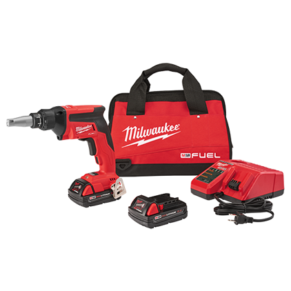 Milwaukee M18 FUEL™ Drywall Screw Gun Compact Kit [2866-22CTP]