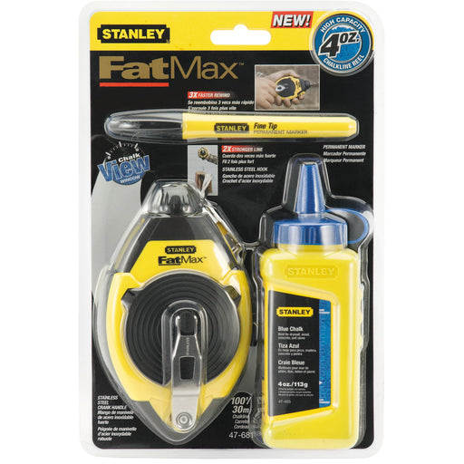 Stanley FatMax Chalk Line Reel Kit 100 ft [47-681]