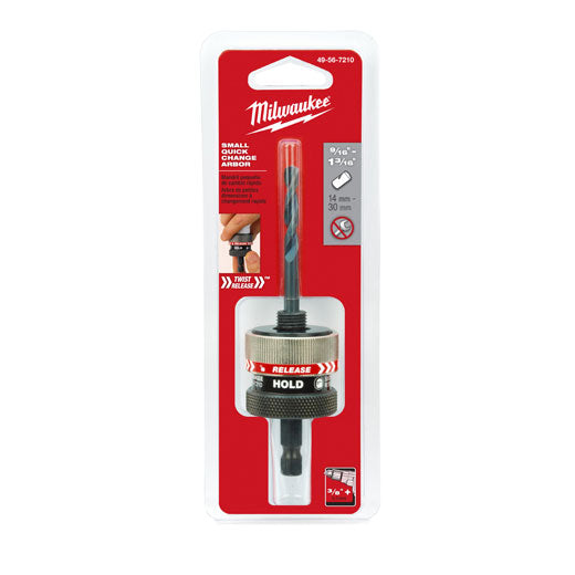 Milwaukee - Twist-Release Small Thread Quick Change Arbor, 3/8""