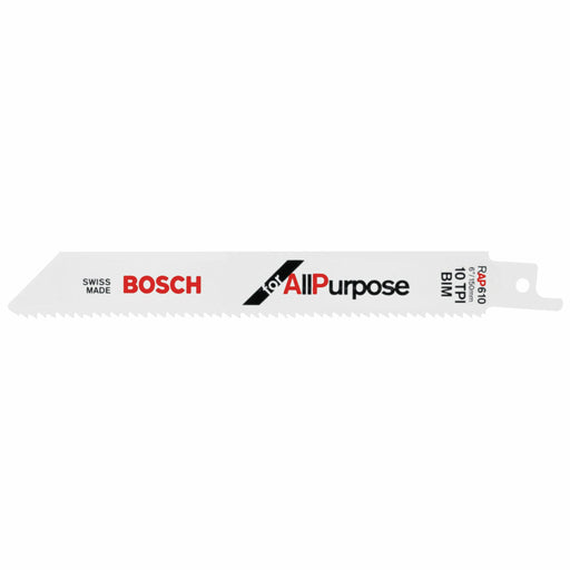 BOSCH	5 pc. 6 In. 10 TPI All Purpose Reciprocating Saw Blade	RAP610
