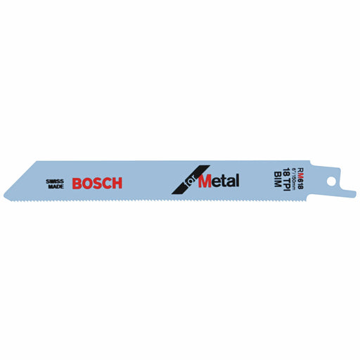 BOSCH	5 pc. 6 In. 18 TPI Metal Reciprocating Saw Blade	RM618