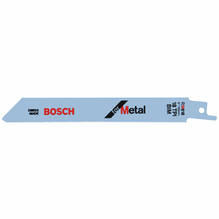 BOSCH 6 In. 18 TPI Metal Reciprocating Saw Blade [RM618]