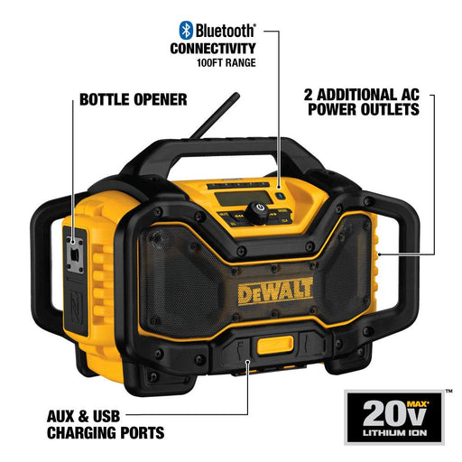 Dewalt Bluetooth Jobsite Charger Radio [DCR025]