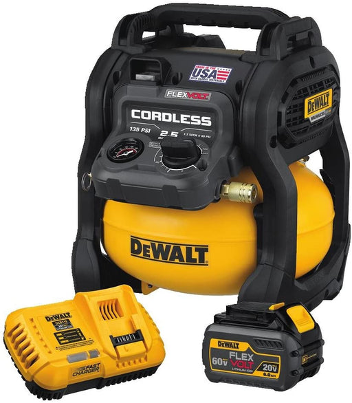 DEWALT 60V MAX* FLEXVOLT® 2.5 Gallon Cordless Air Compressor Kit [DCC2560T1]