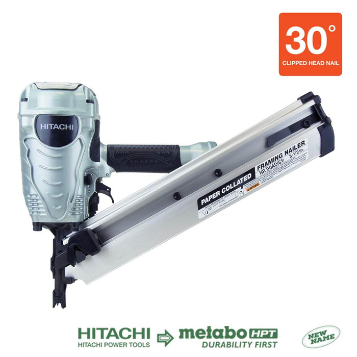 "METABO HPT 3-1/2"" Paper Collated Framing Nailer [NR90AD(S1)]"