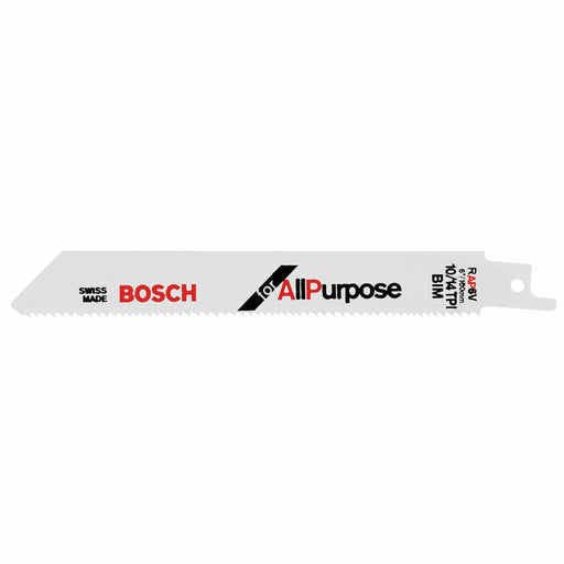 BOSCH	5 pc. 6 In. 10/14 V TPI All Purpose Reciprocating Saw Blade	RAP6V