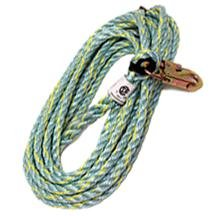 VERTICAL LIFELINE W/SNAP HOOK 25FT