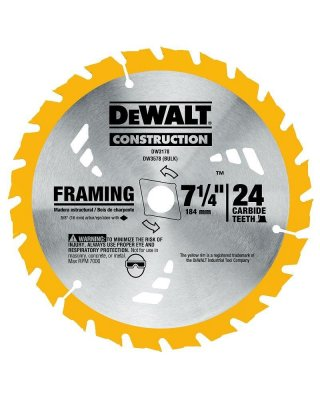 "DEWALT 7 1/4"" 24 TEETH"