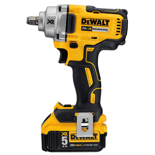 Dewalt 20V MAX* XR® 1/2 in. Mid-Range Cordless Impact Wrench With Hog Ring Anvil Kit [DCF894HP2]