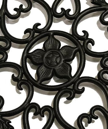 Nuvo Iron Cast Aluminum Round Decorative Gate Fence Insert ACW55 - 15 in Diameter