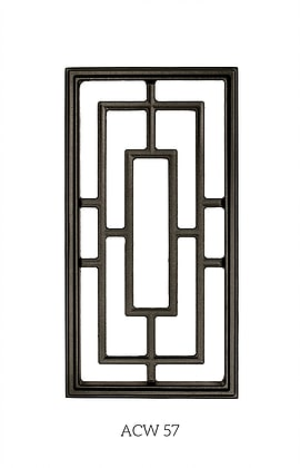 Nuvo Iron Cast Aluminum Rectangle Decorative Gate Fence Insert ACW57 - 17-1/4 in x 8-5/8 in
