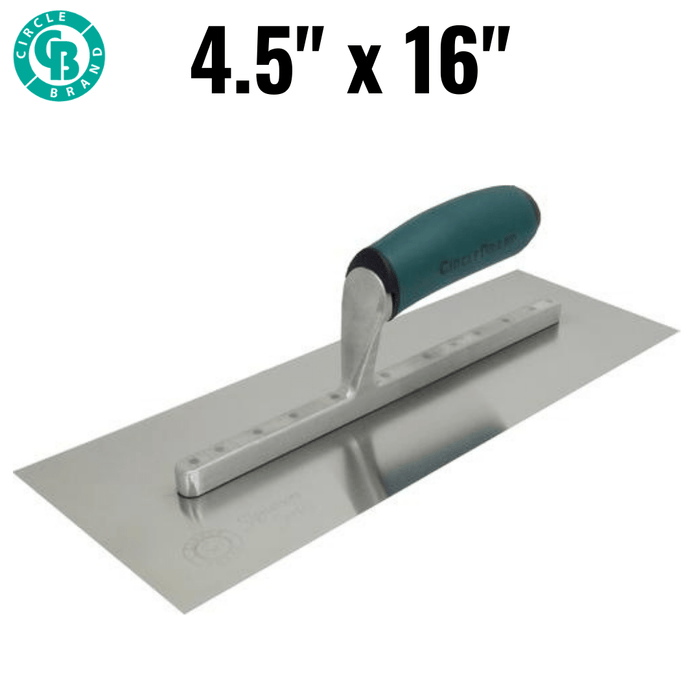 "CIRCLE BRAND 16"" Signature Series Trowel with ErgoGrip Handle [CB16244]"