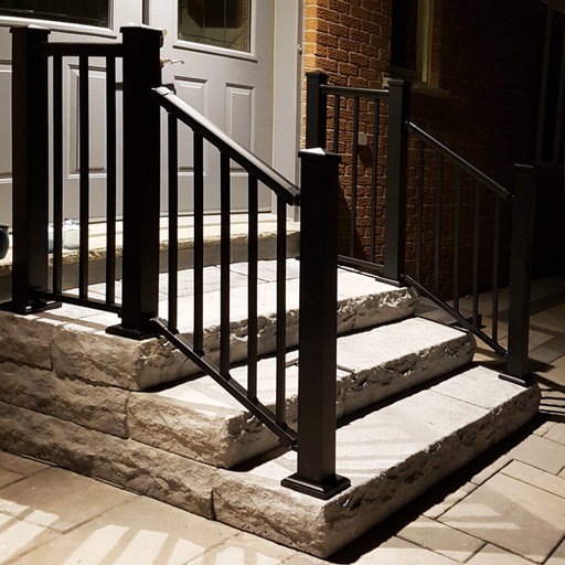 Nuvo Iron 6' Aluminum Deck Railing Kit (Black) [BLSARK636D]