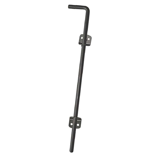 Nuvo Iron Wooden Gate Cane Bolt Black CBW - 18 in