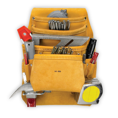 Kuny's 10 Pocket Carpenter's Nail & Tool Bag [I933]