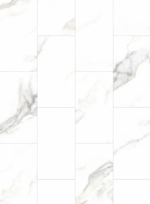 AquaTile Vinyl Plank with Underlay - 5mm - Marble White (price per sq.ft)