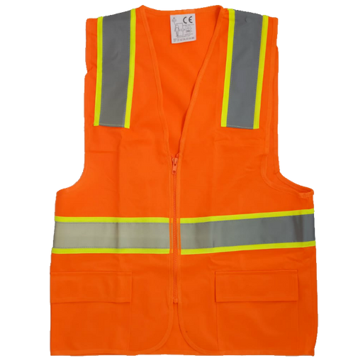 Traffic Safety Vest With Zipper