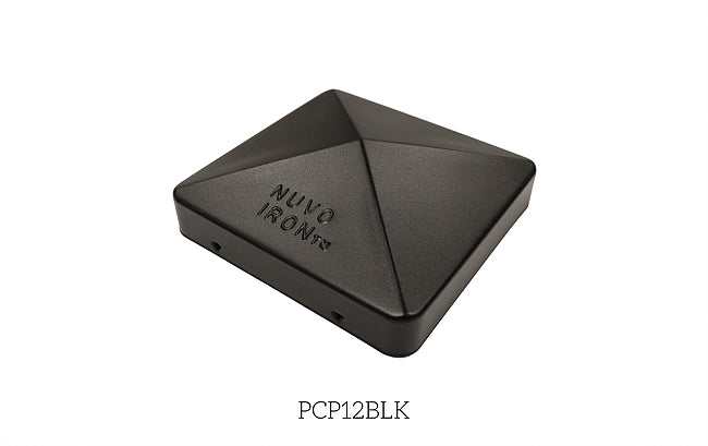 "Nuvo Iron Easy-Cap Pyramid Post Caps - Black - 5-1/2"" x 5-1/2"" [PCP12BLK]"