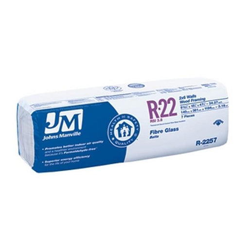 "Johns Manville Fiberglass Insulation R-22 15"" x 47"" x 5.5""; 48.96 sq.ft"