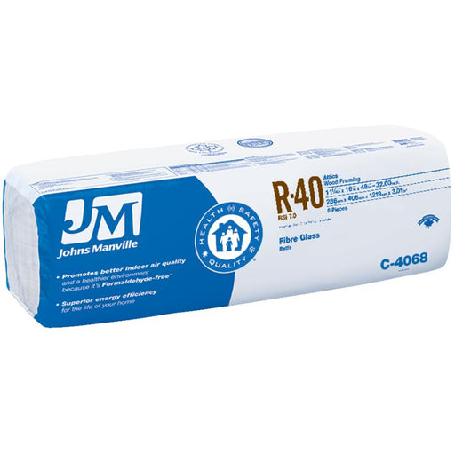 "Johns Manville Fiberglass Insulation R-40 16"" x 48"" x 11""; 32 sq.ft"