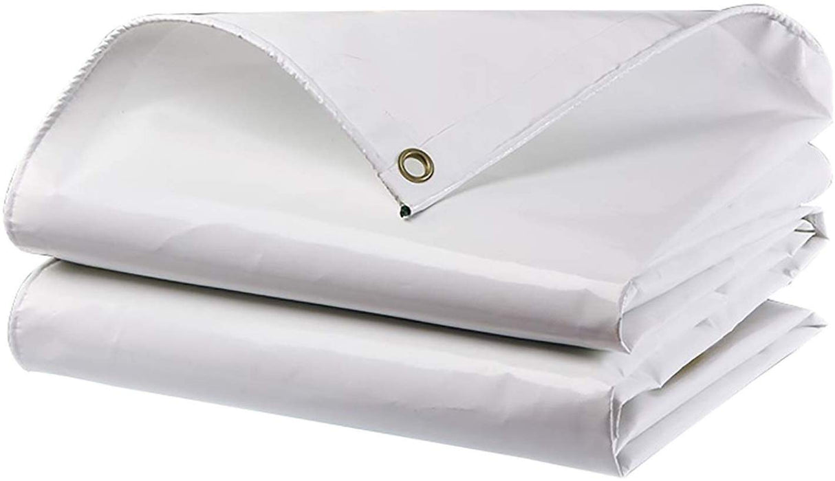 White Tarp / Tarpaulin Heavy-Duty Reinforced Double-Stitching 20 ft. x 30 ft.