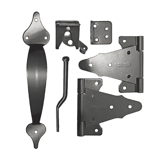 Nuvo Iron Wooden Gate Combo Kit Deluxe WGCKH - (Steel, Galvanized, Powder Coated)