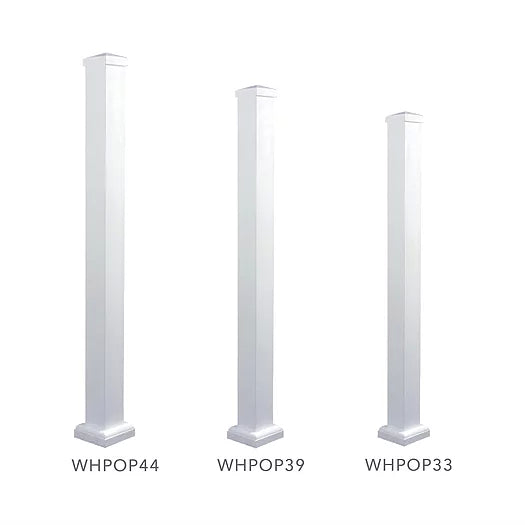 Nuvo Iron 44'' Aluminum Deck & Stair Posts (White) [WHPOP44]