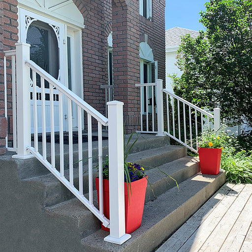 Nuvo Iron 39'' Aluminum Deck & Stair Posts (White) [WHPOP39]