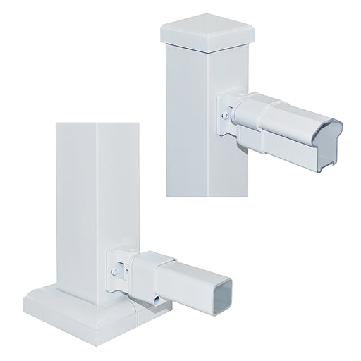 Nuvo Iron Rail End Stairs Bracket (White) [WHTBRSB]