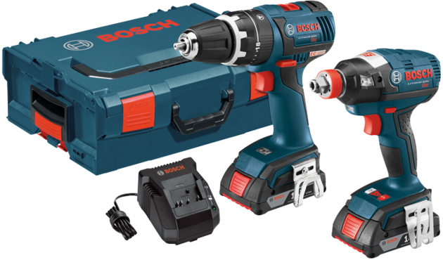 Bosch - CLPK250-181L 18 V 2-Tool EC Brushless Cordless Combo Kit