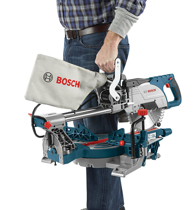 Bosch - 8-1/2 In. Single Bevel Sliding Compound Miter Saw-cm8s