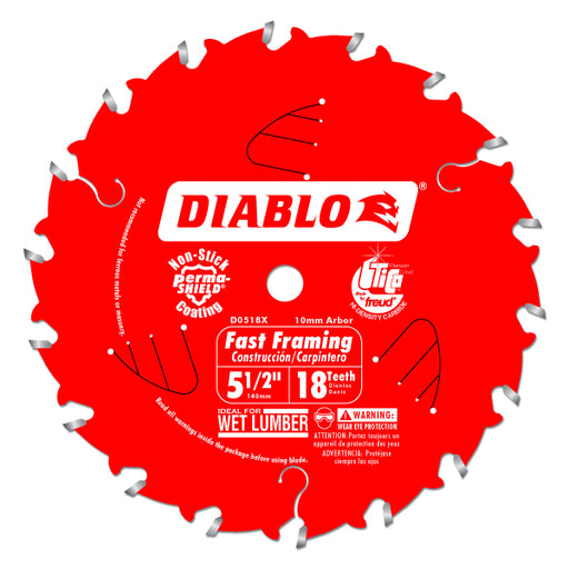 Diablo - 5-1/2 IN. X 18 TOOTH FAST FRAMING TRIM SAW BLADE