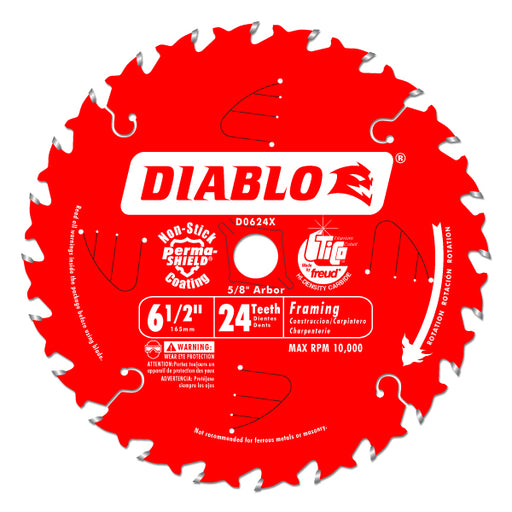 Diablo - 6-1/2 IN. X 24 TOOTH FRAMING SAW BLADE