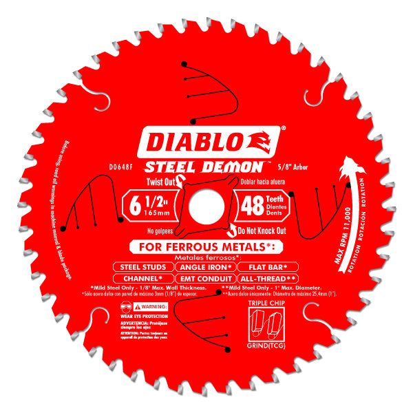 Diablo - 6-1/2 IN. X 48 TOOTH STEEL DEMON METAL CUTTING SAW BLADE