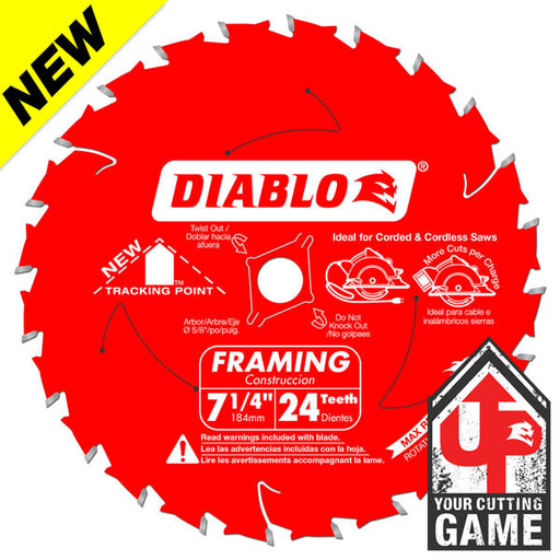 Diablo - NEW 7-1/4 IN. X 24 TOOTH FRAMING SAW BLADE