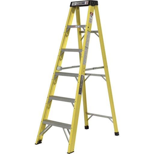 LITE Fiberglass Step Ladder  6-Ft., 300-Lb. Capacity, Model# LP-30677