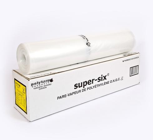 Super Six Clear Poly 6 mil 12 in. x 300 sq.ft