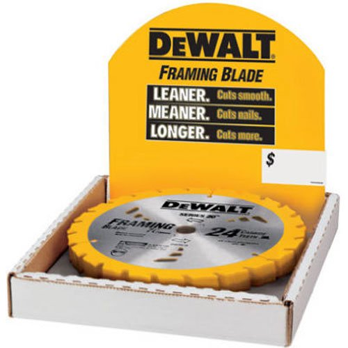 DEWALT DW3578B10 7-1/4-Inch 24T Framing Carbide Thin Kerf Circular Saw Blade