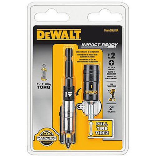 DEWALT DWA3HLDIR 3-Inch Impact Ready Bit Tip Holders with Screwlock Sleeve