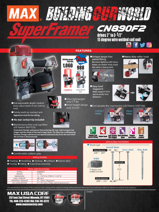 Max 34-Degree Strip Super Framer-SN890CH2