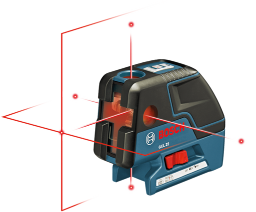 Bosch - GCL 25 Five-Point Self-Leveling Alignment Laser and Cross-Line