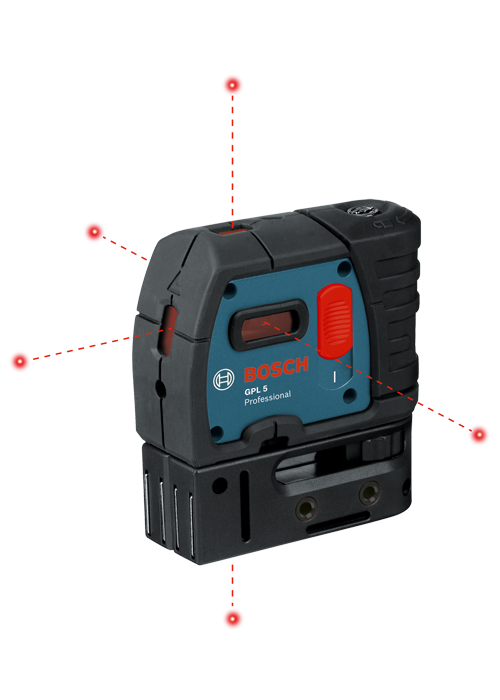 Bosch Self-Leveling 5-Point Plumb and Square Laser-GPL 5S