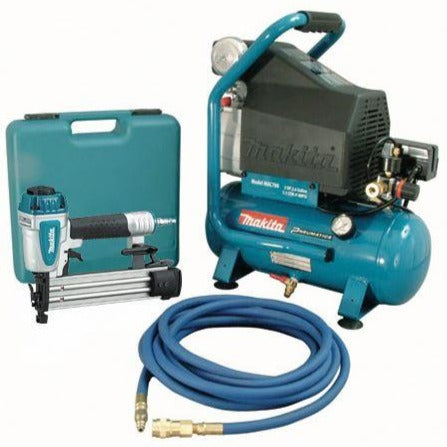 Makita | MAC700-KIT3 2H.P Air Compressor And Brad Nailer Kit