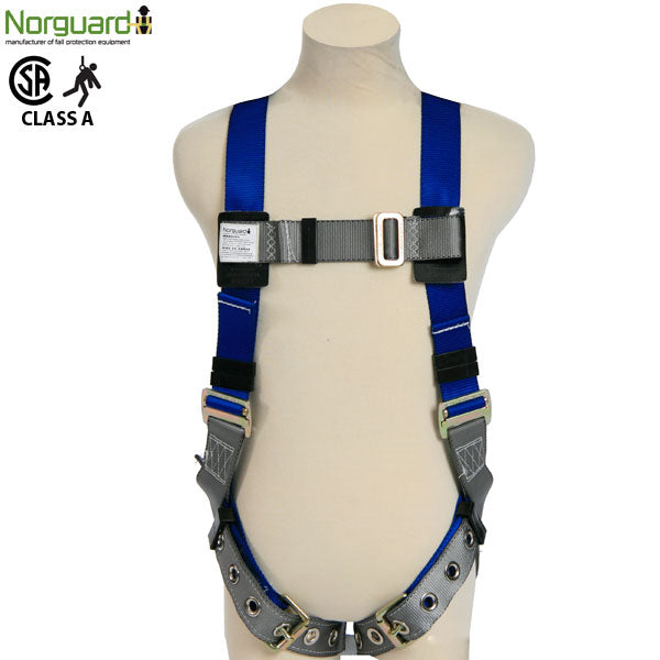 FALL ARREST HARNESS W/ TONGUE BUCKLE LEGS, BACK D-RING