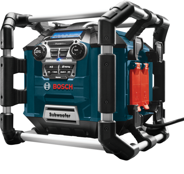 Bosch - PB360C Power Box™ Jobsite AM/FM Radio/Charger/Digital Media Stereo with 360 Degree Sound and Bluetooth®