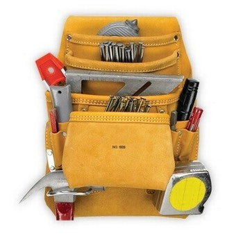 1933 10 POCKET CARPENTER'S NAIL & TOOL BAG 1933