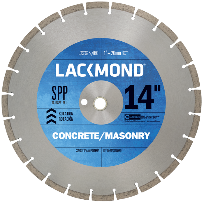 LACKMOND 14 In. SPP PLUS Series General Purpose Diamond Blade For Concrete And Masonry Cutting sg14spp