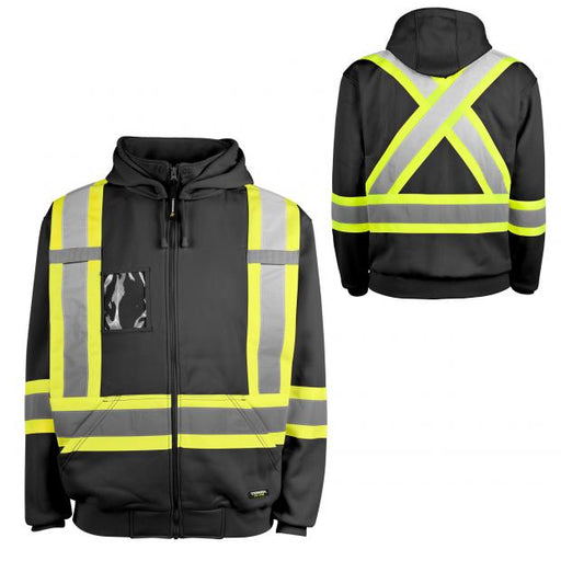 TERRA HI-VIS Reflective Fleece Hoody Workwear XL [116506]
